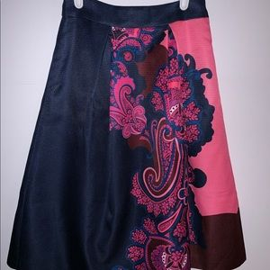 Ted Baker London Oriental Paisley Midi Skirt